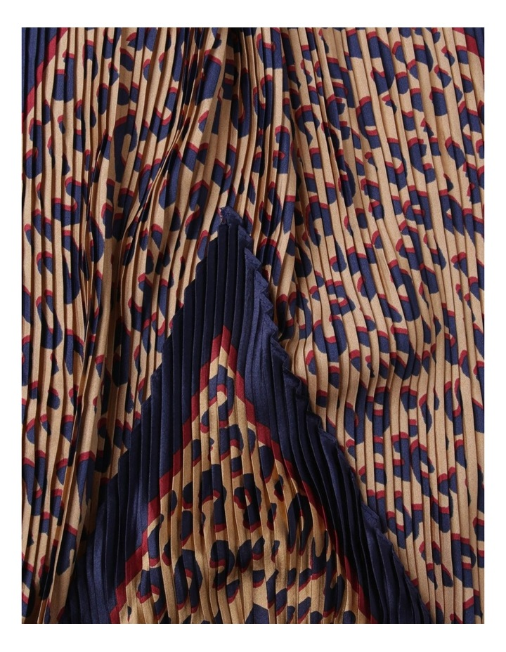 Pleated Leopard Scarf image 2