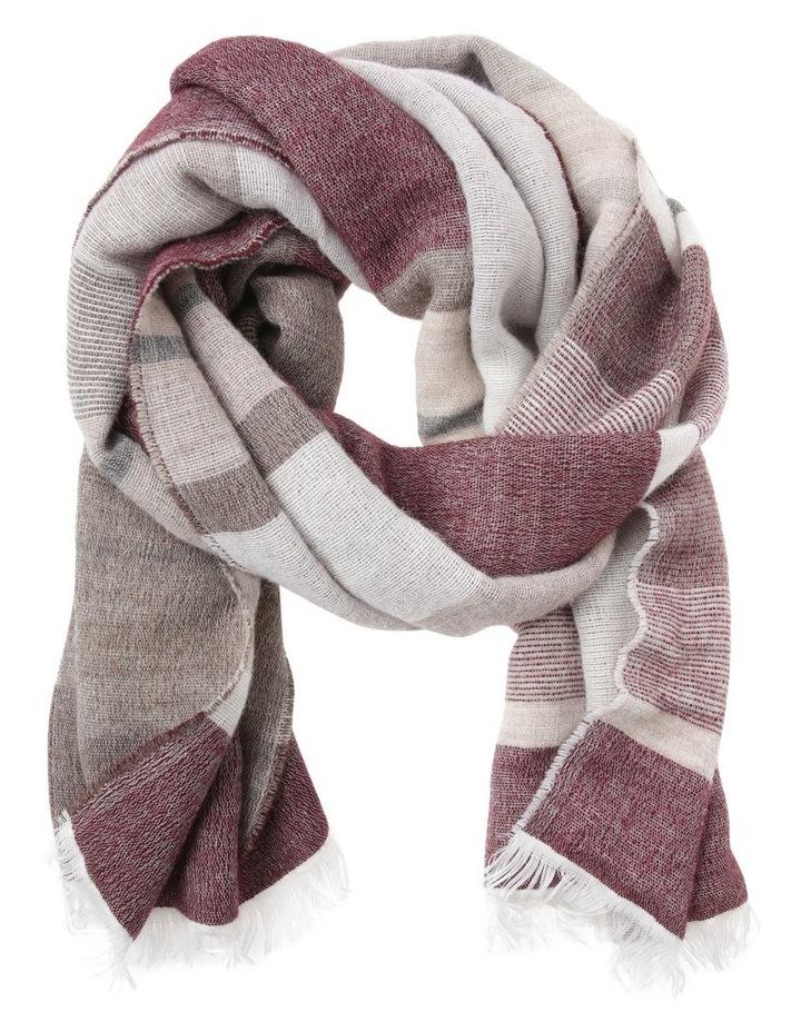 Fine Knit Stripe Winter Scarf image 1