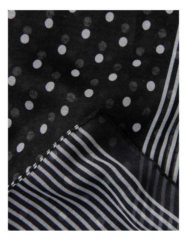 Polka Dot With Stripe Border Scarf image 2