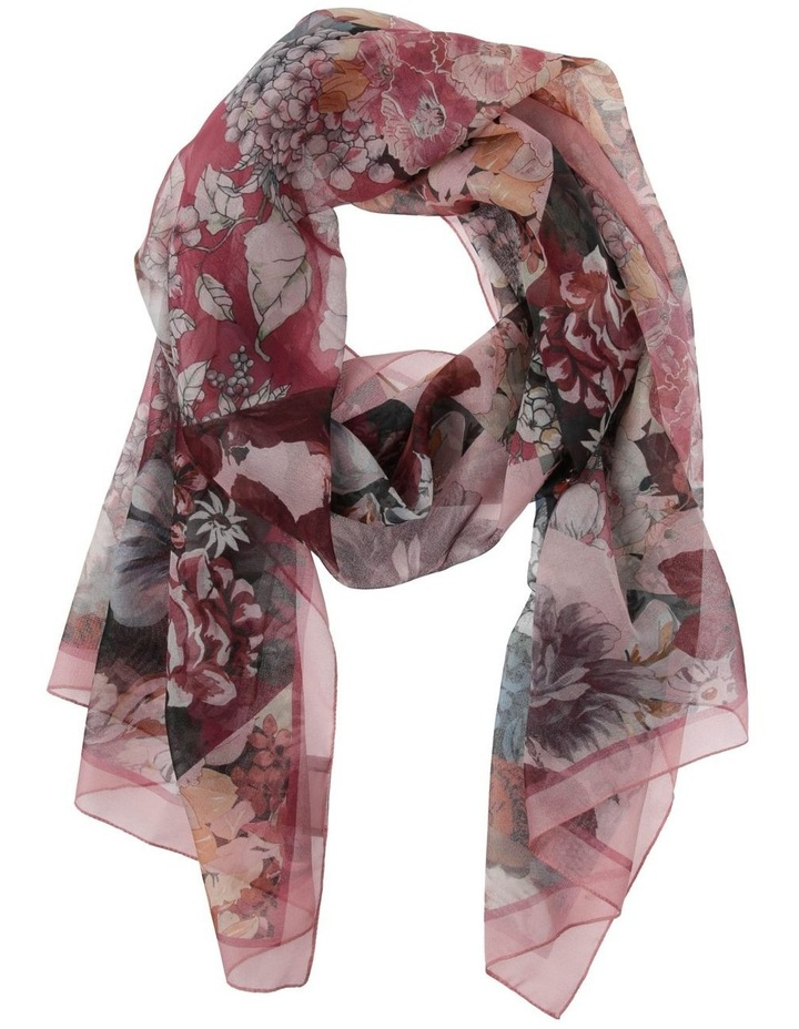 Multi Flower With Border Scarf image 1