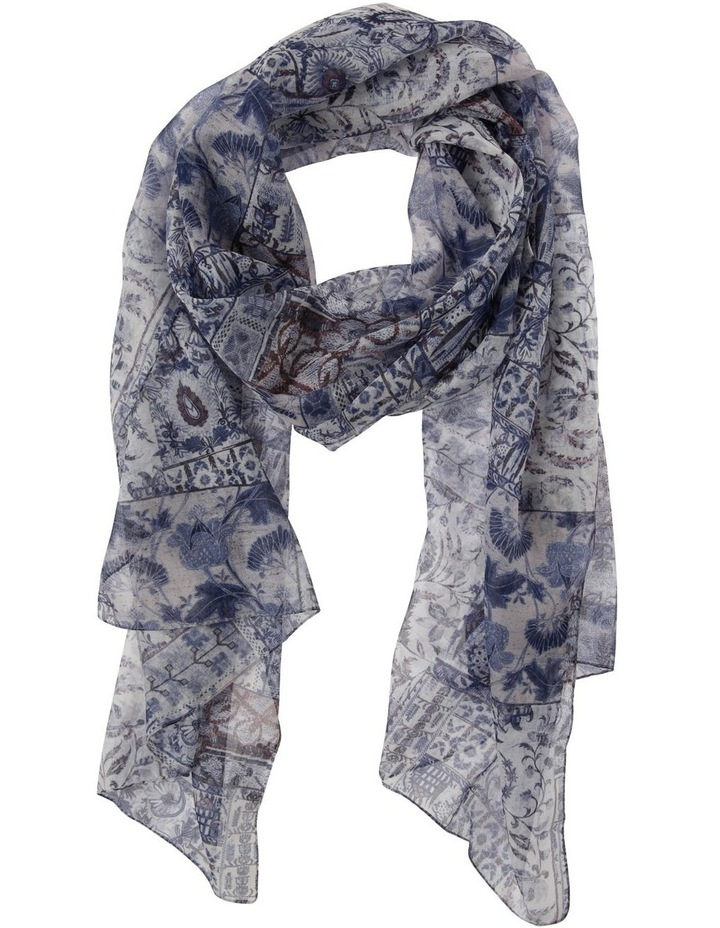 Patchwork Floral Print Scarf image 1