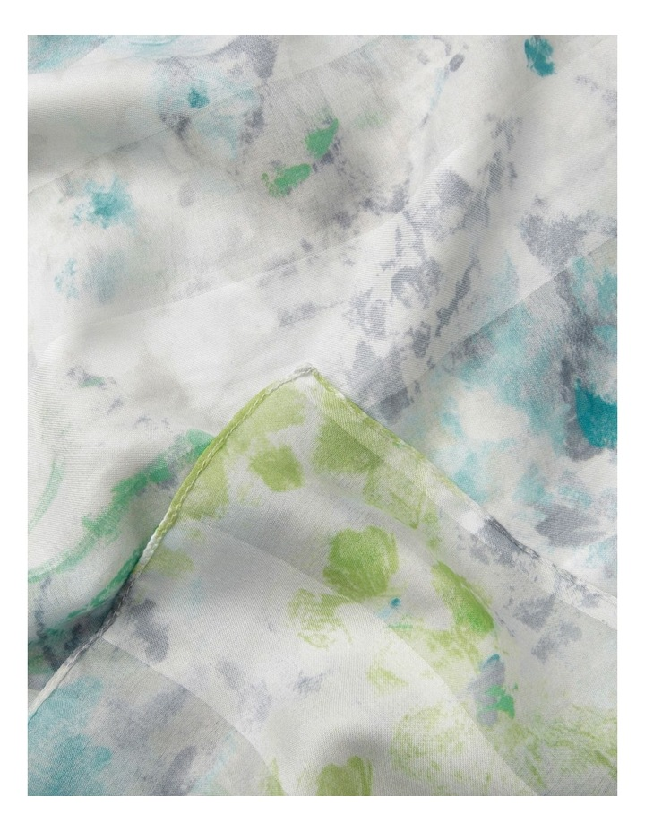Abstract Water Floral Scarf image 2