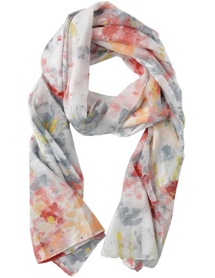 Abstract Water Floral Scarf image 1