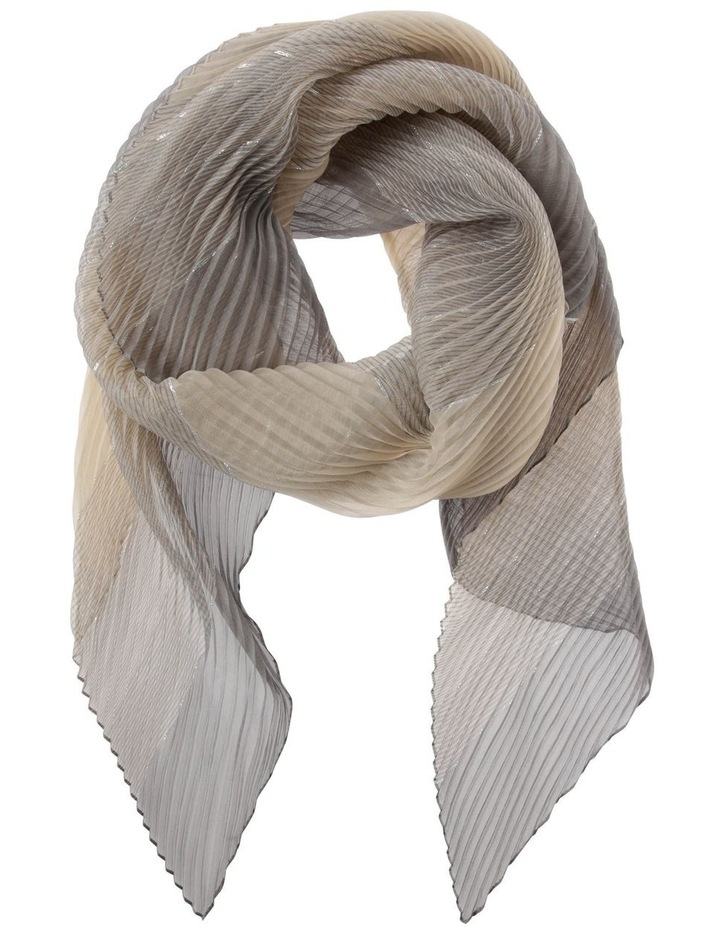 Pleated Ombre Lurex Scarf image 1