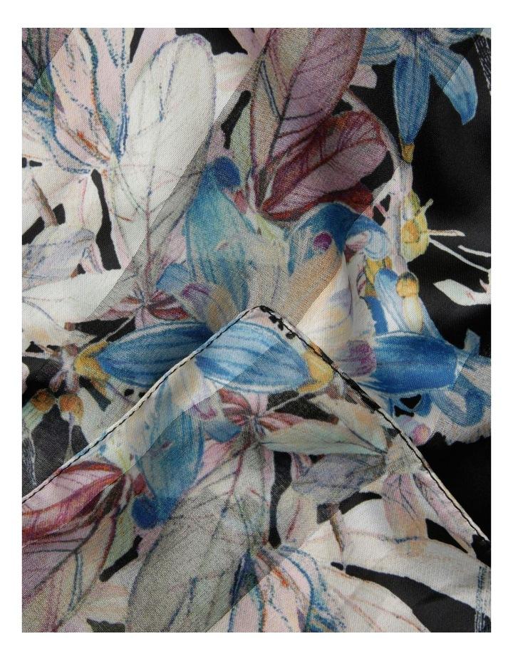 Satin Stripe Pastel Floral Scarf image 2