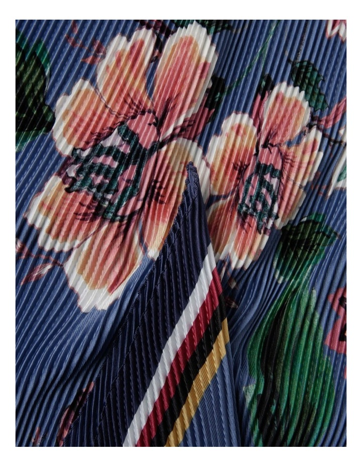 Pleated Floral And Border Scarf image 2