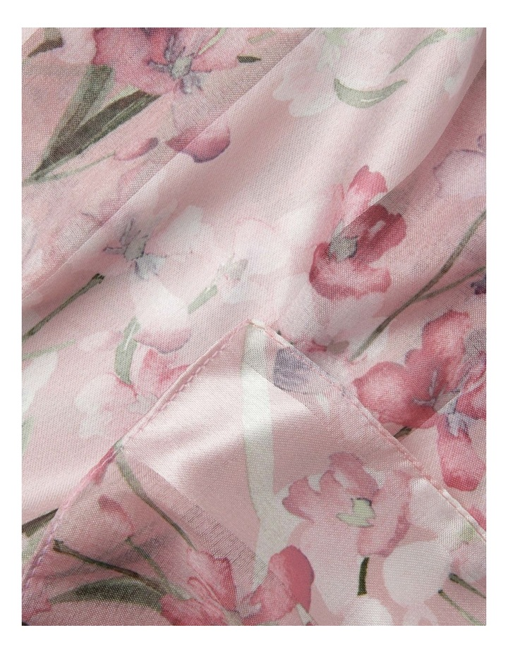 Satin Stripe Orchid Flower Scarf - Pink image 2
