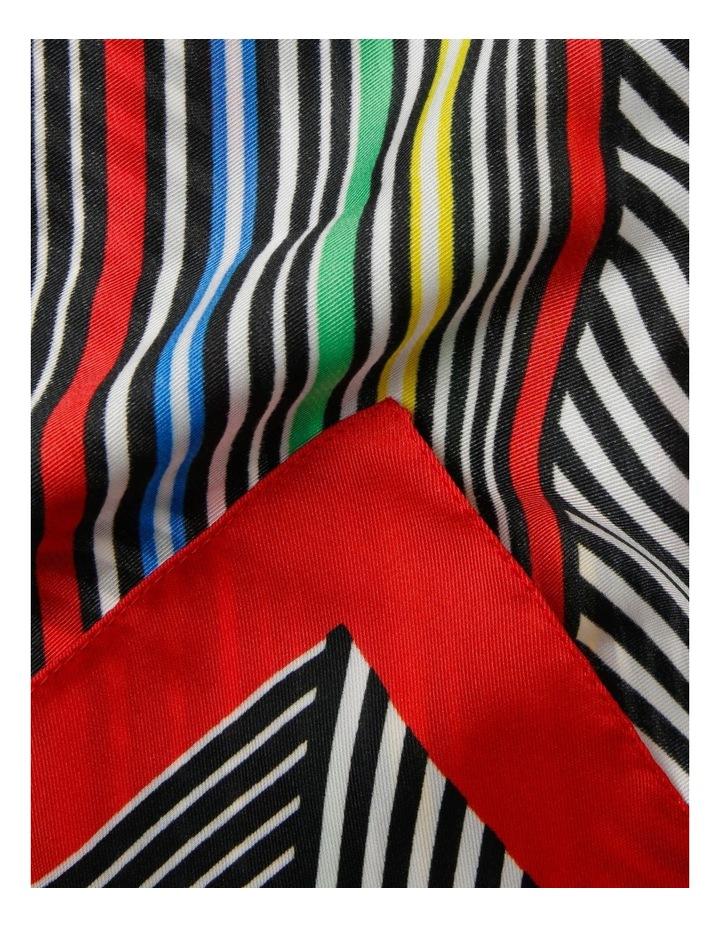 Multi Stripe With Border Neck Scarf image 2