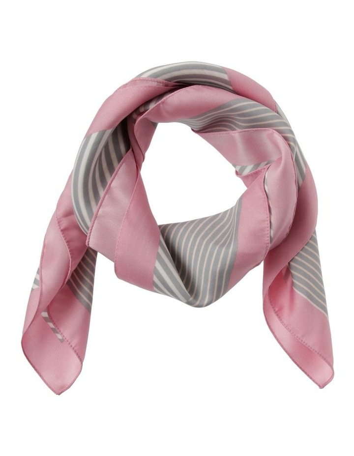 Multi Stripe With Border Neck Scarf image 1