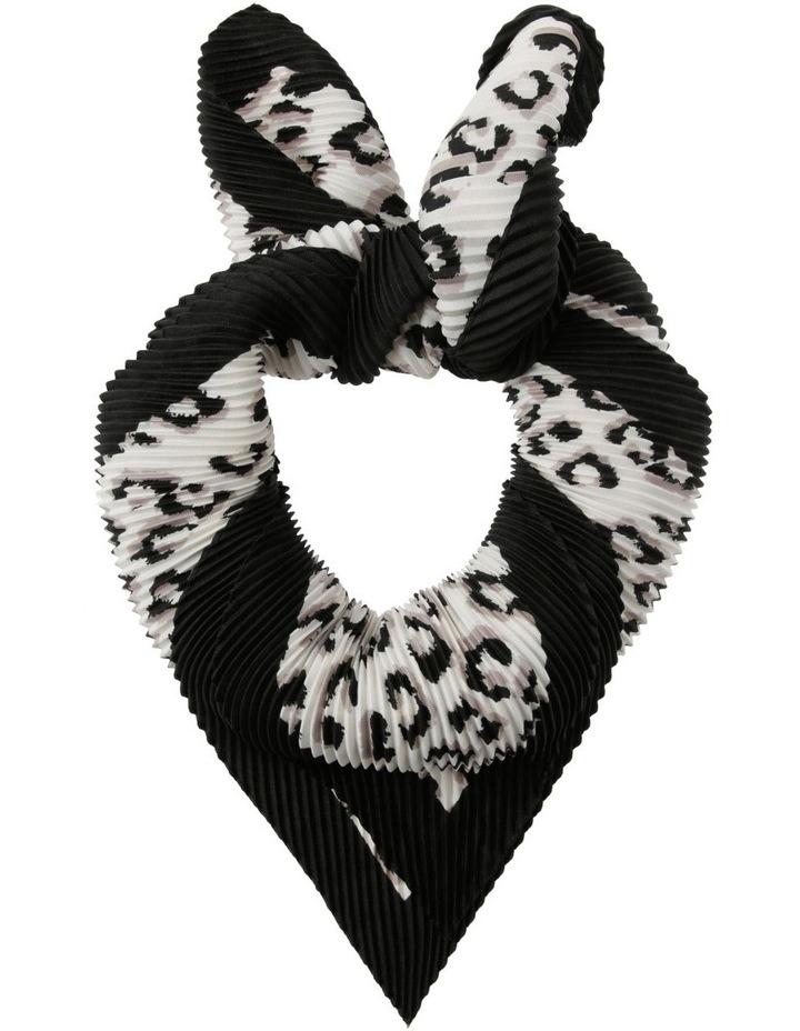 Animal Print Pleated Scarf image 1