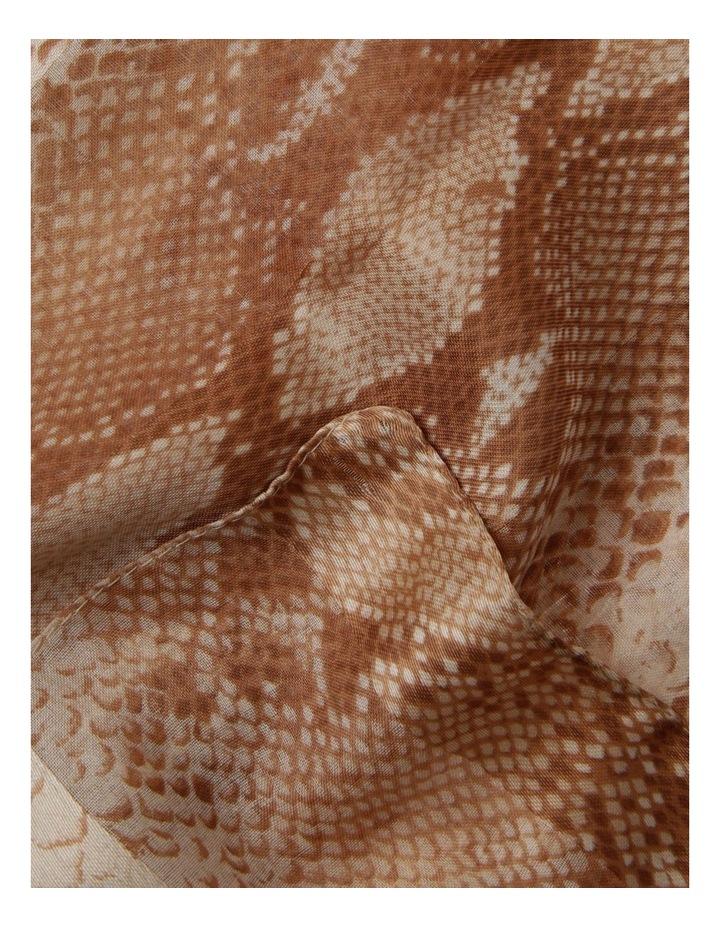 Snake Print With Satin Stripe Scarf image 2