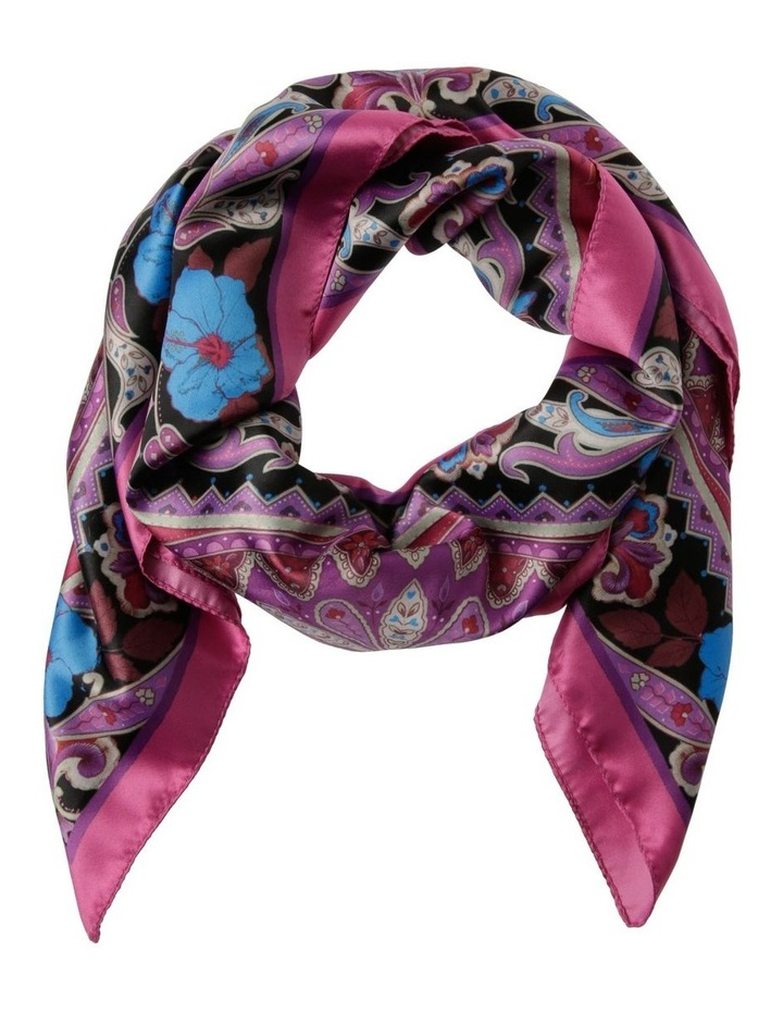 Floral Print With Border Scarf image 1