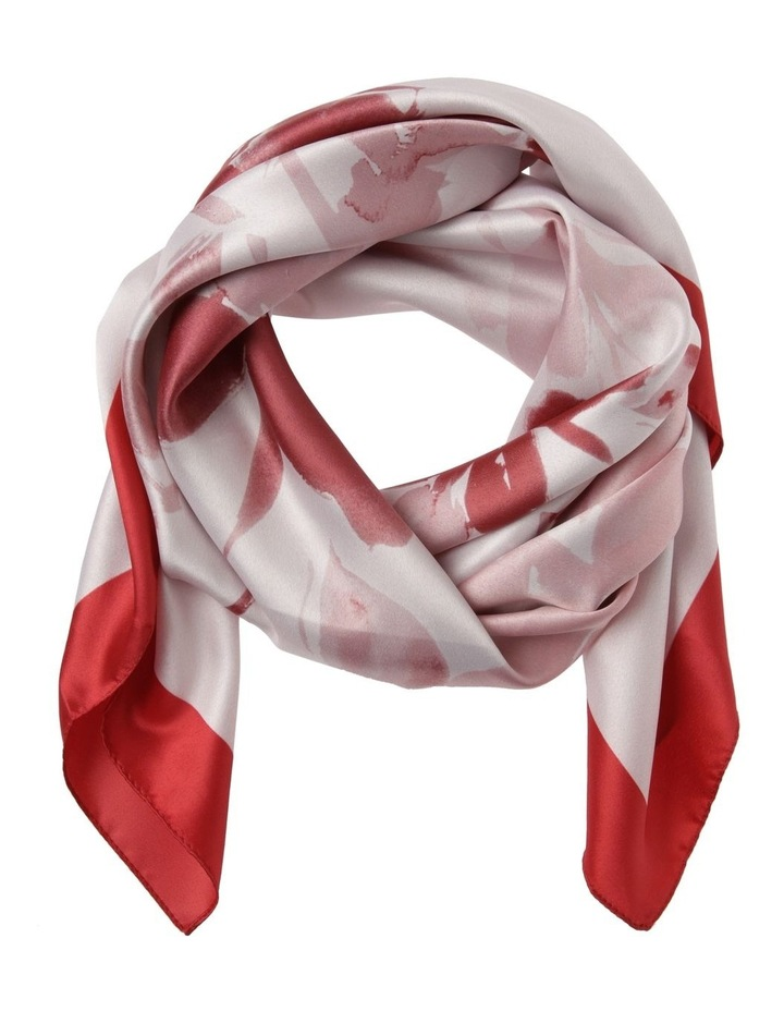 Abstract Floral With Border Scarf image 1