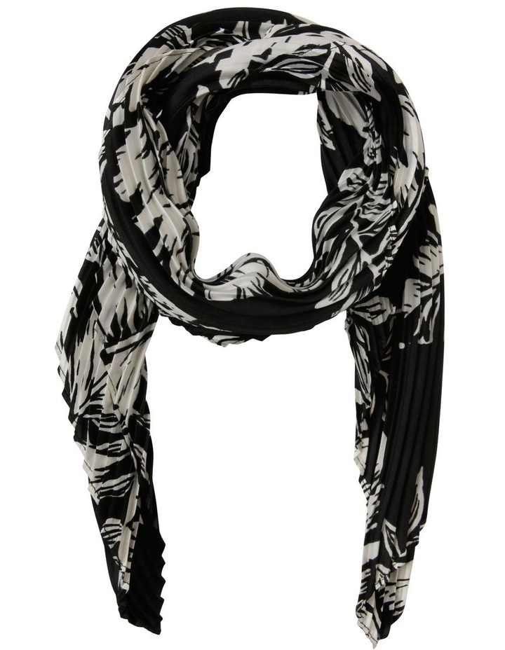Floral With Black Base Pleated Scarf image 1