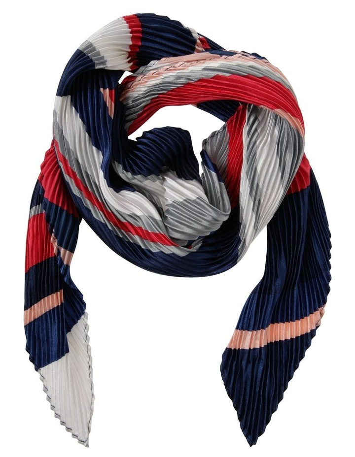 Bright Stripe Pleated Neckerchief Scarf image 1