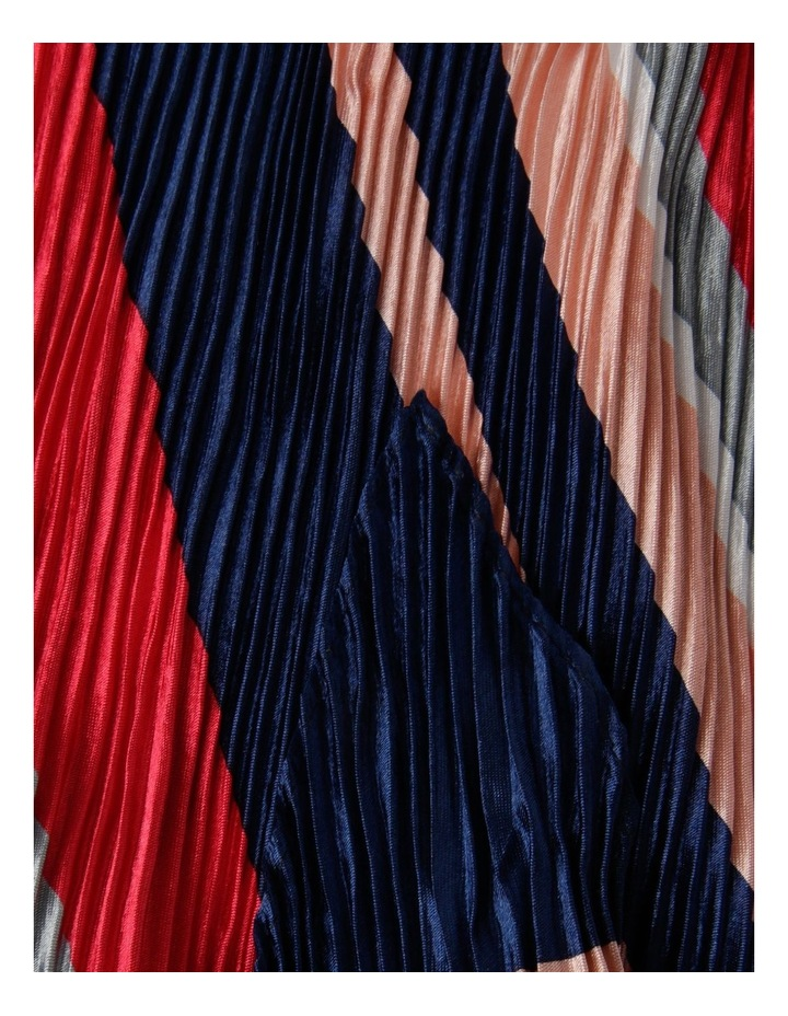 Bright Stripe Pleated Neckerchief Scarf image 2