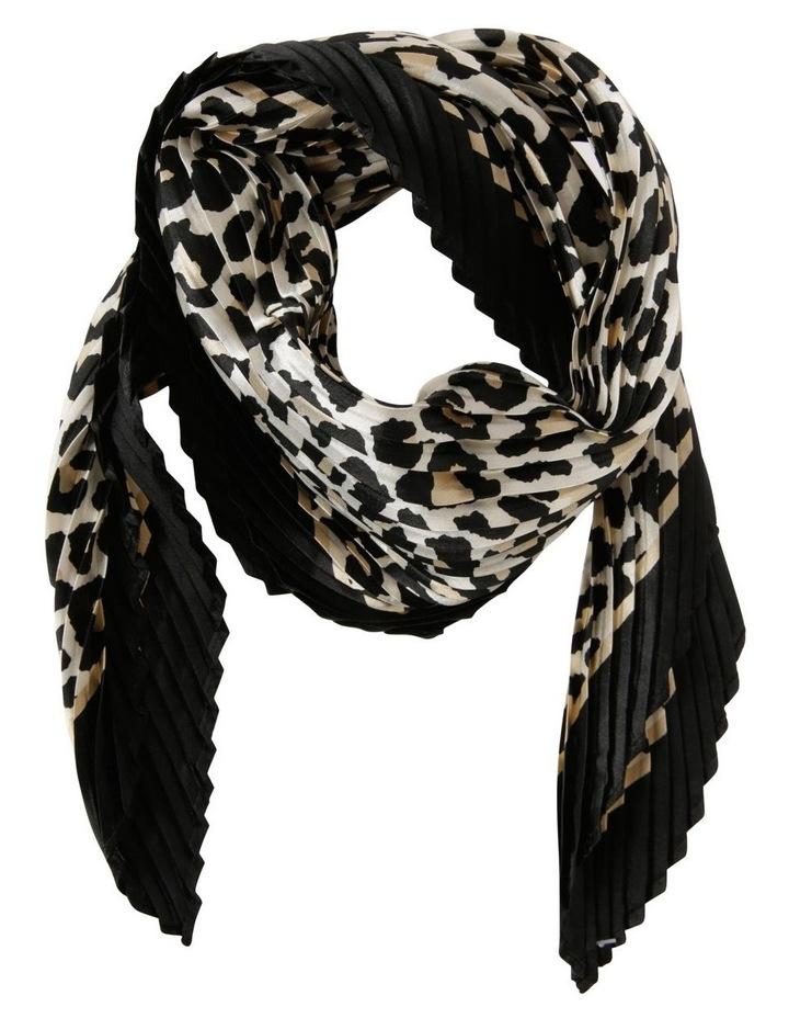 Pleated Leopard Neckerchief Scarf image 1