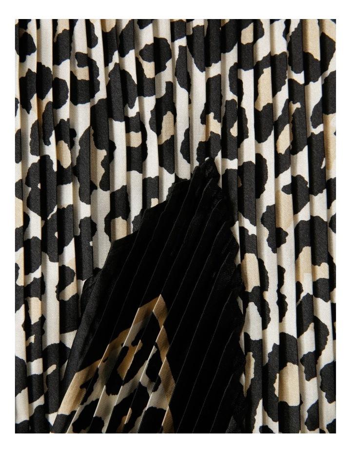 Pleated Leopard Neckerchief Scarf image 2