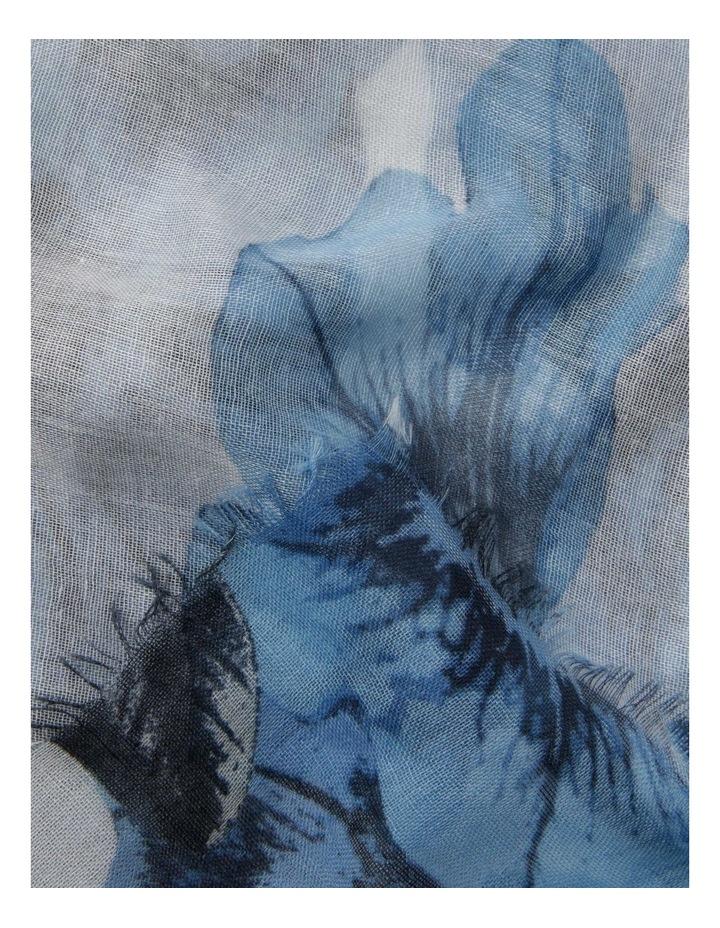 Floral Summer Scarf - Blue image 2