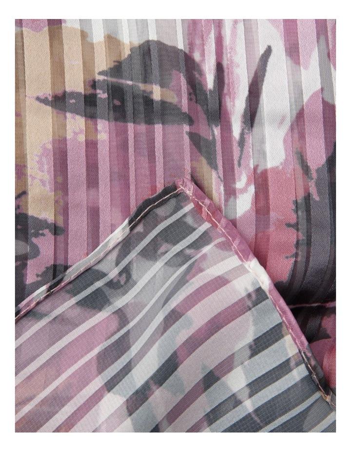 Floral Satin Stripe Scarf image 2