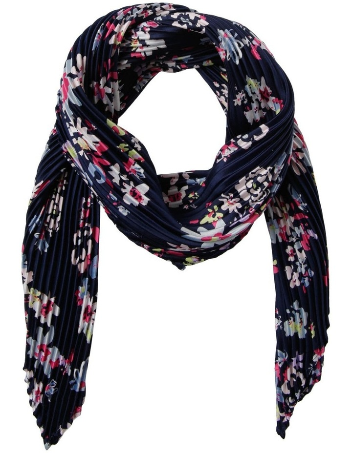 Disty Floral Pleated Neckerchief Scarf image 1