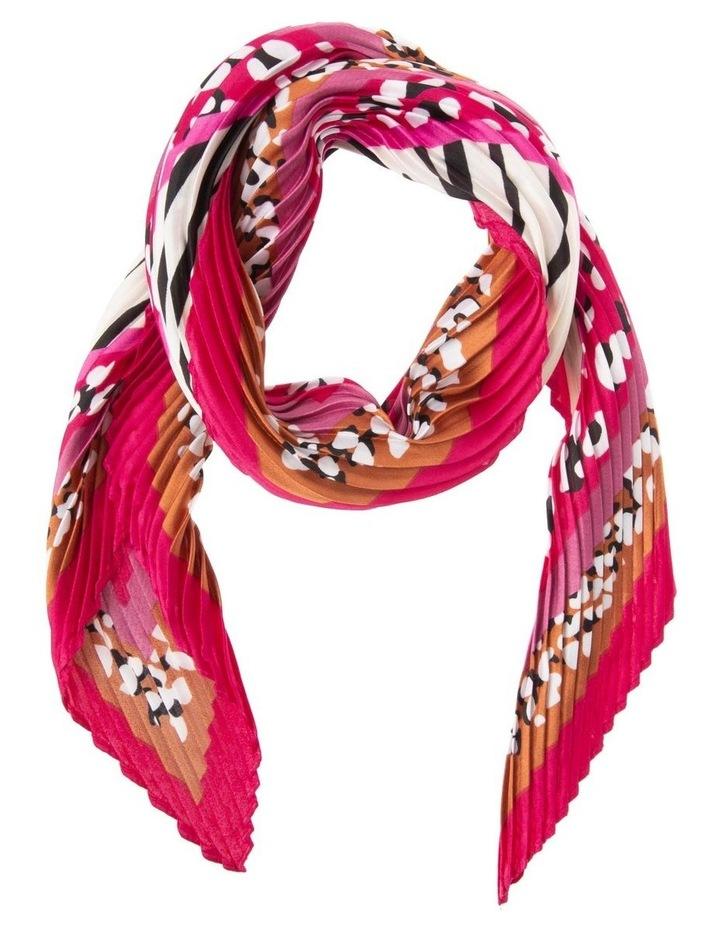 Multicoloured Animal Print Neckerchief with Pleats image 1