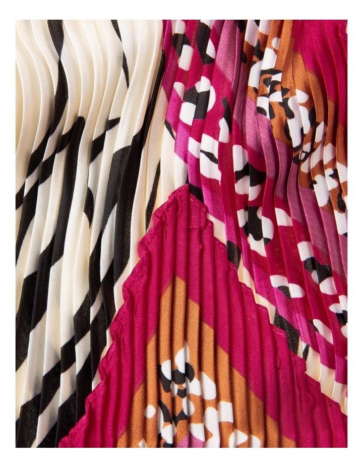 Multicoloured Animal Print Neckerchief with Pleats image 2