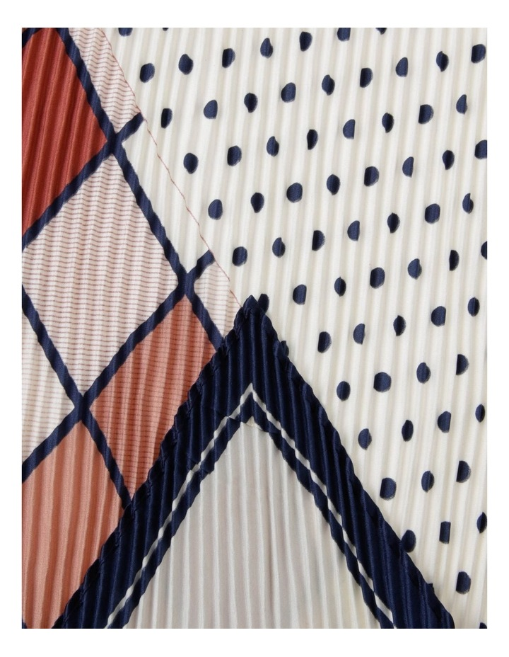Geometic H Print Pleated Neckerchief Scarf image 2