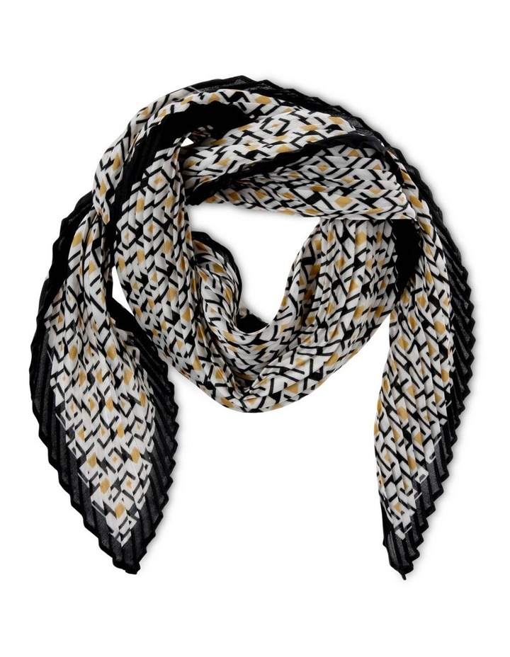 Spotted Geometric Print Pleated Neckerchief Scarf image 1