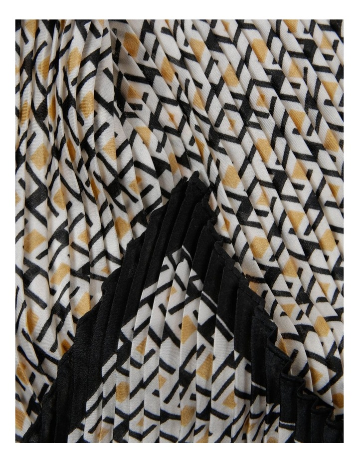 Spotted Geometric Print Pleated Neckerchief Scarf image 2
