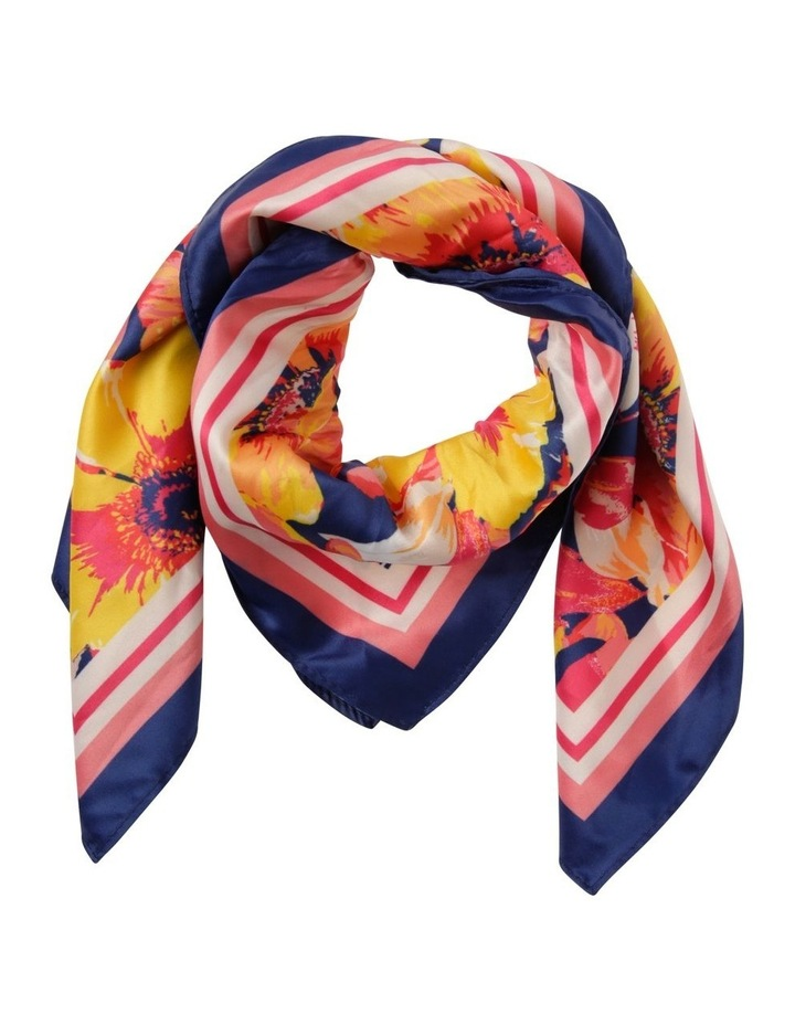 Blurred Floral Neckerchief Scarf image 1