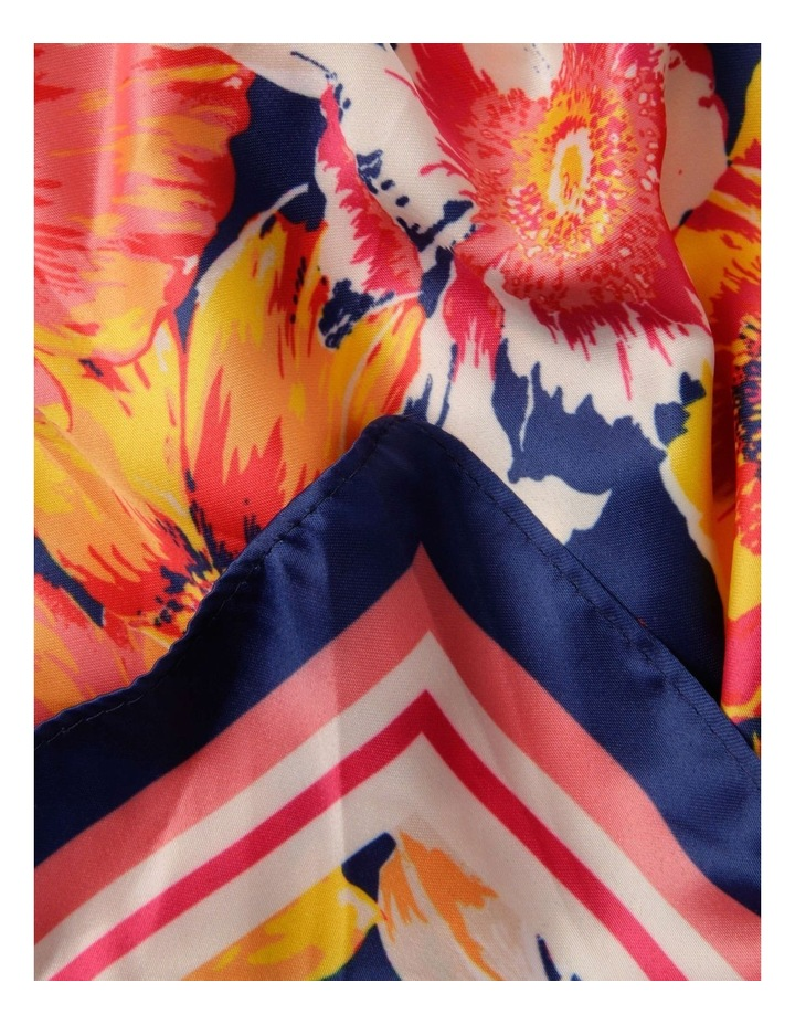 Blurred Floral Neckerchief Scarf image 2