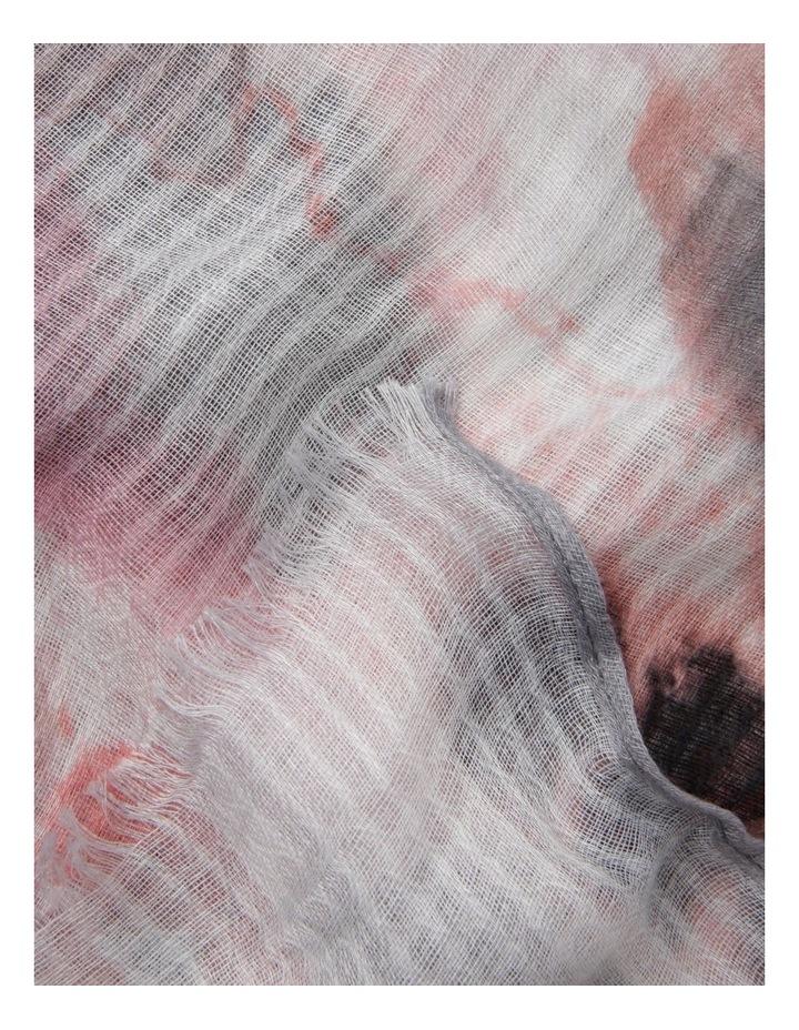Tie Dye Scarf in Blush image 2