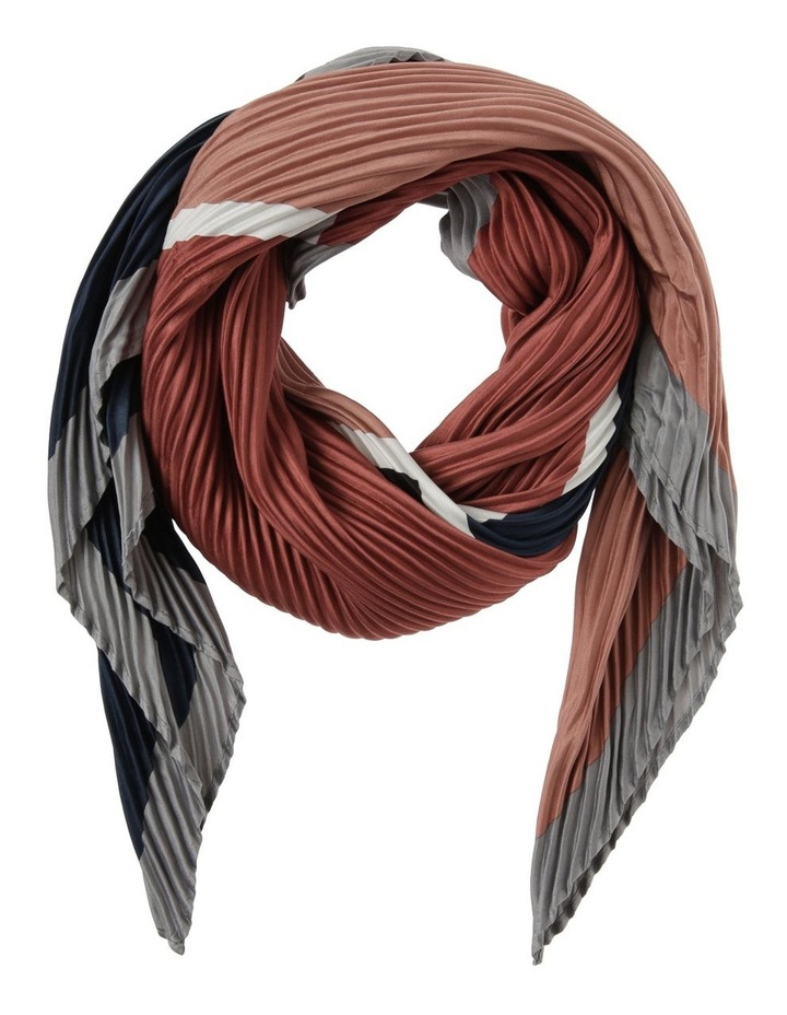Stripe Print Pleated Square Neckerchief image 1
