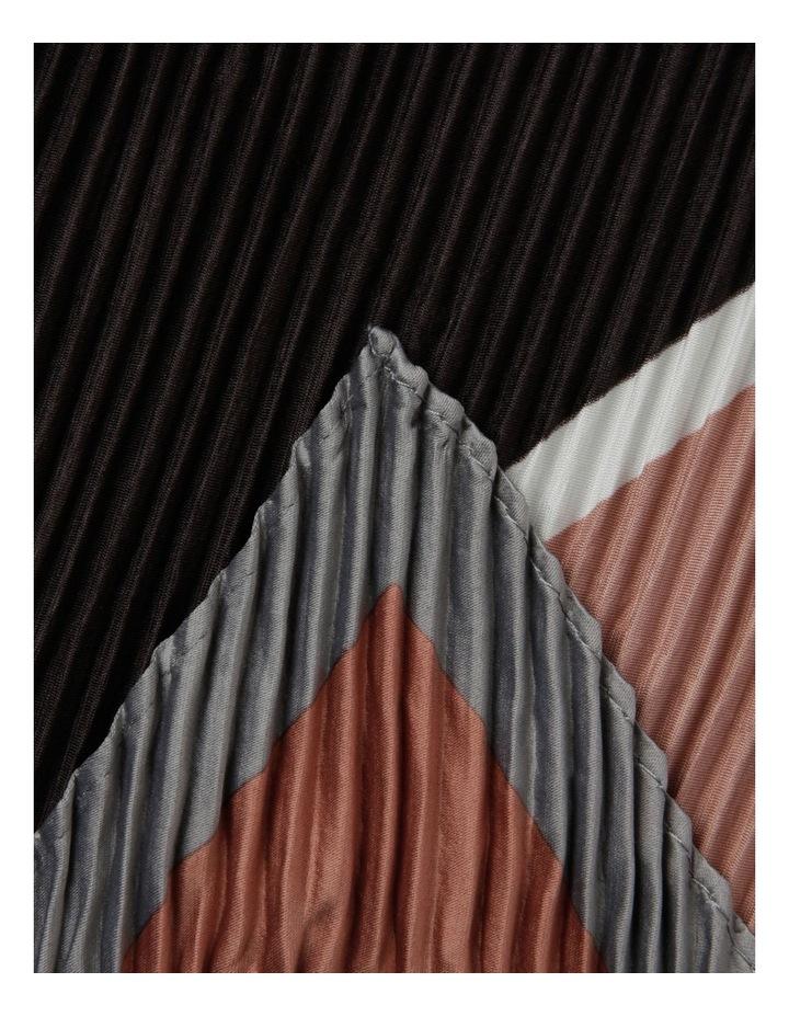 Stripe Print Pleated Square Neckerchief image 2