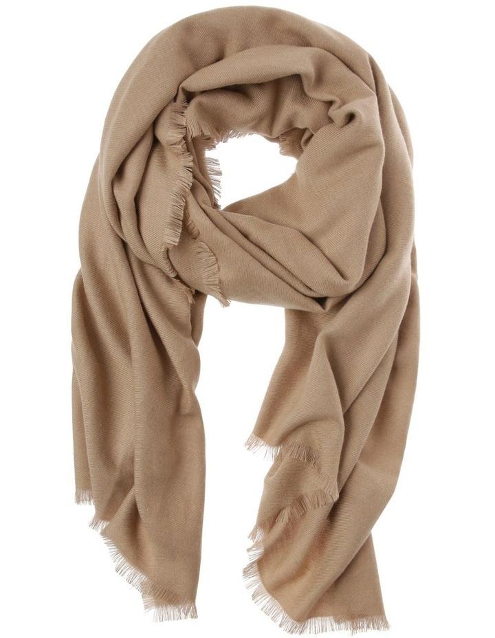 Soft Knit Winter Scarf with Fringe Hem image 1