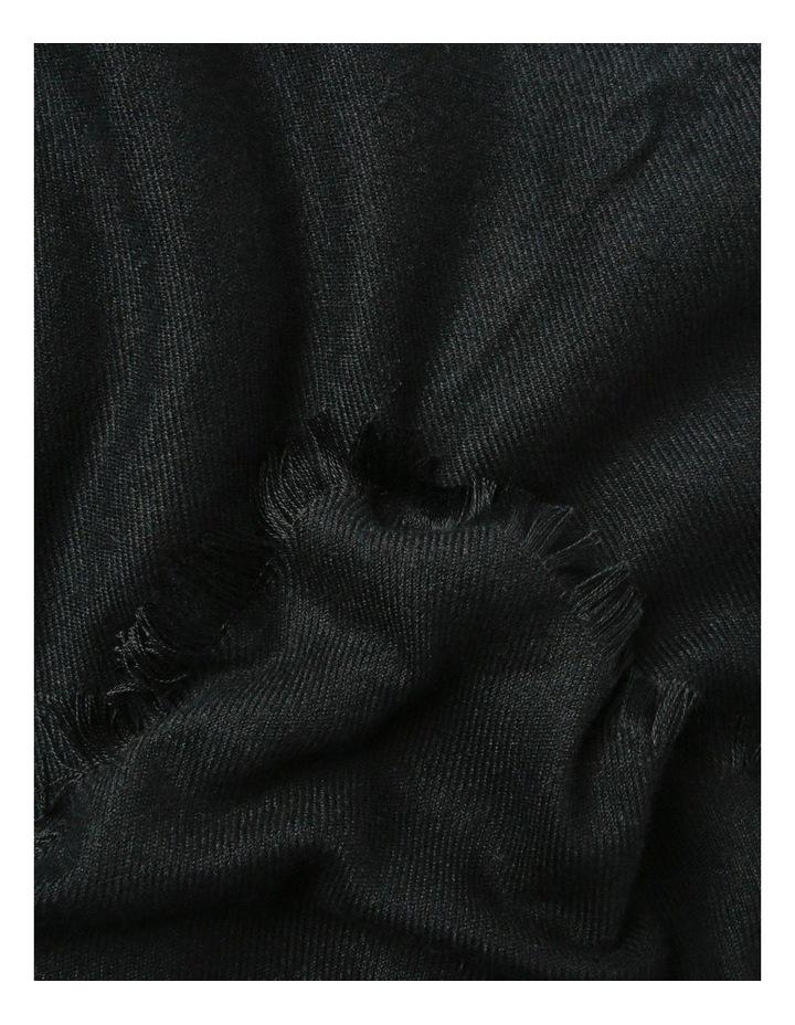 Soft Knit Winter Scarf with Fringe Hem image 2