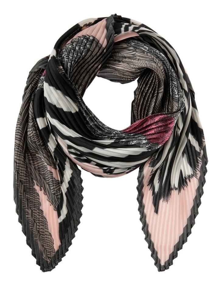 Zebra Print Pleated Neckerchief image 1