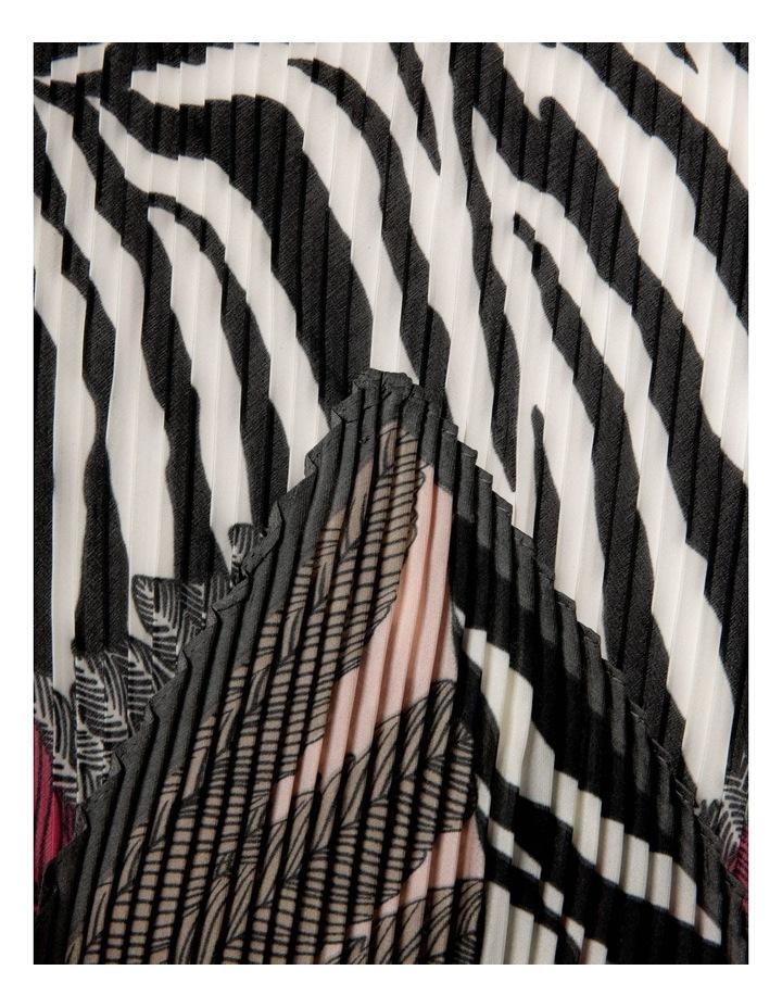 Zebra Print Pleated Neckerchief image 2