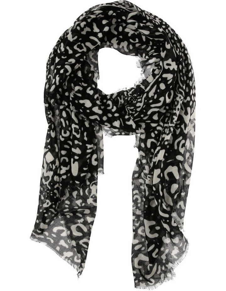 Black Abstract Animal Scarf image 1