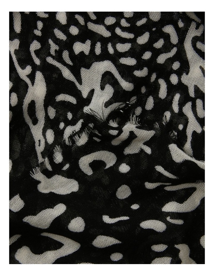 Black Abstract Animal Scarf image 2