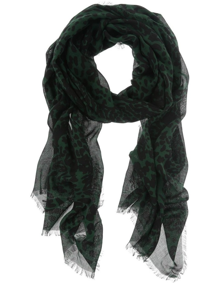 Green Abstract Animal Scarf image 1