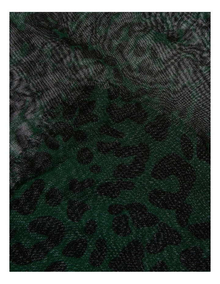 Green Abstract Animal Scarf image 2