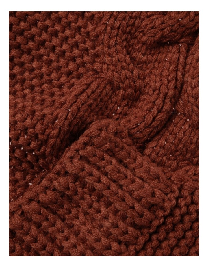 Knitted Cable Winter Scarf image 2