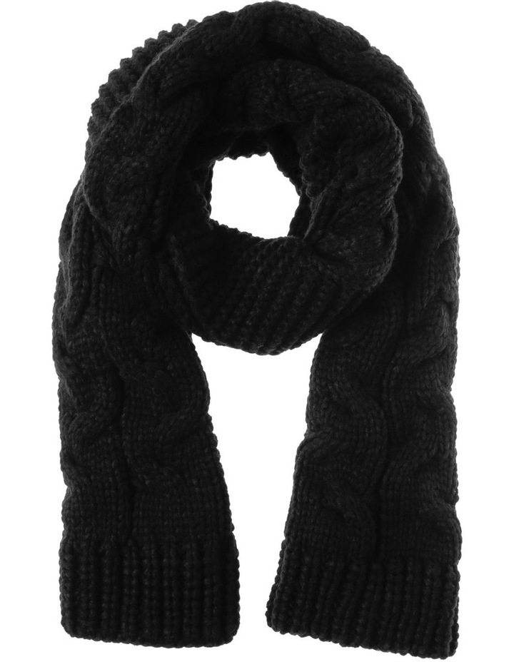 Knitted Cable Winter Scarf image 1