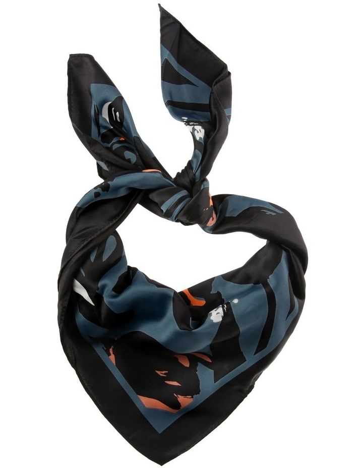 Abstract Floral Print Neckerchief Scarf image 1