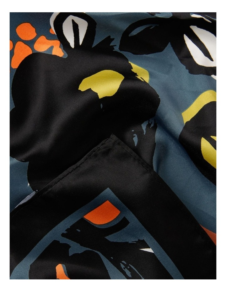 Abstract Floral Print Neckerchief Scarf image 2