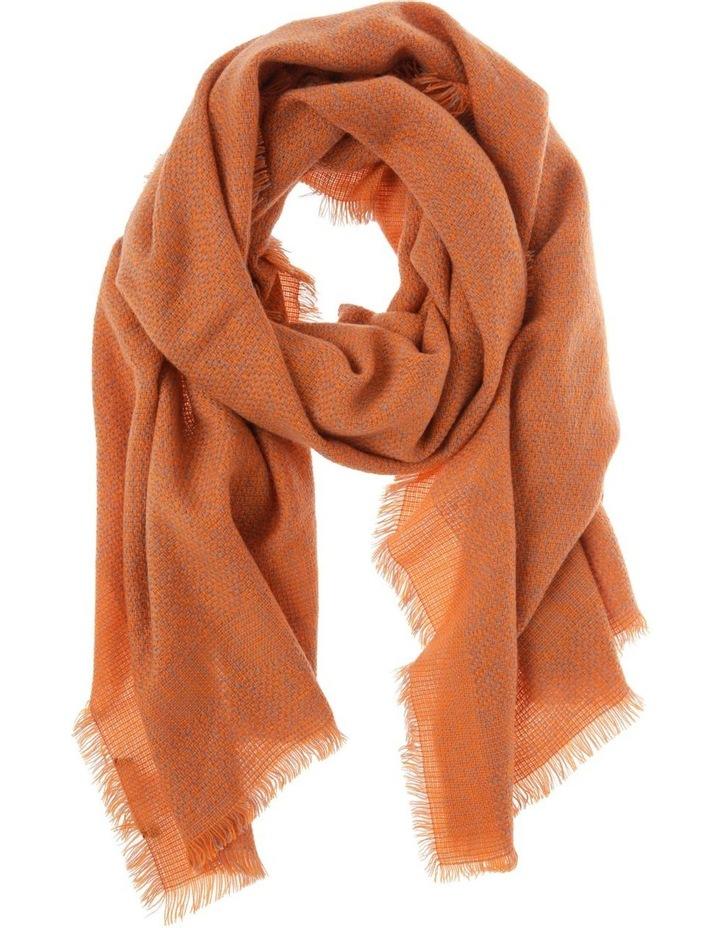 Woven Orange Winter Scarf image 1