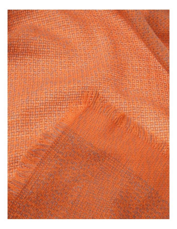 Woven Orange Winter Scarf image 2