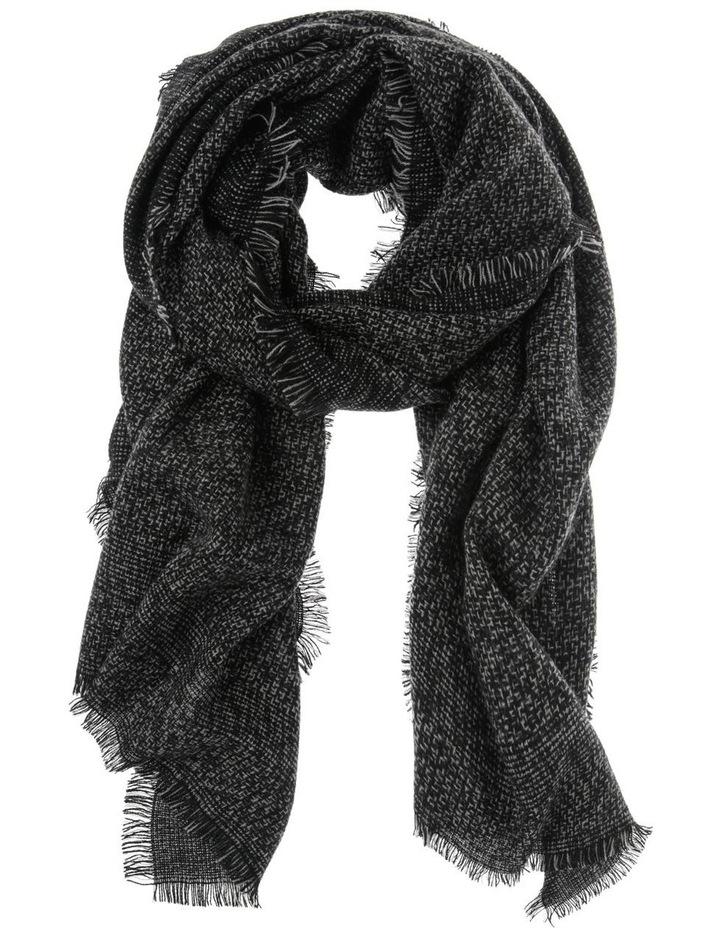 Woven Black Winter Scarf image 1